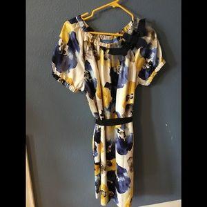 Vera Wang floral print dress
